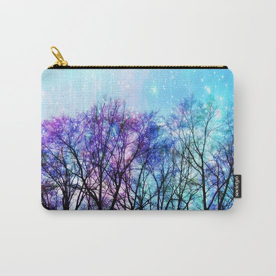 Black Trees Playful Pastels Space Carry-All Pouch