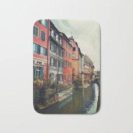 Strasbourg canals Bath Mat