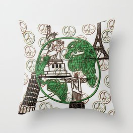 Cabsink16DesignerPatternARTW Throw Pillow