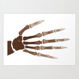 Isolated Boney Hand Art Print