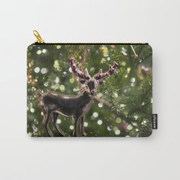 Christmas Tree Deer Photography Poster Carry-All Pouch