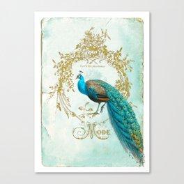 Peacock Mode Canvas Print