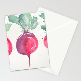 Watercolor beets Stationery Cards