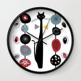 Mid-Century Modern Art Cat 1.7T Wall Clock