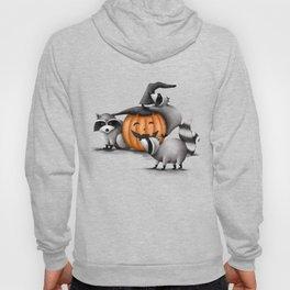 Raccoons and Jack-O-Lanterns Hoody