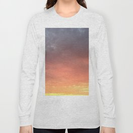Yellow Red and Gray Sky Long Sleeve T-shirt