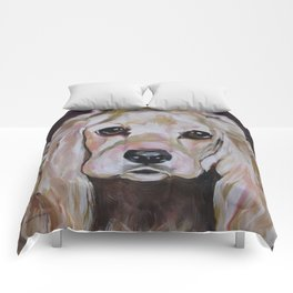 Cocker Spaniel Dog Pet Portrait Comforters