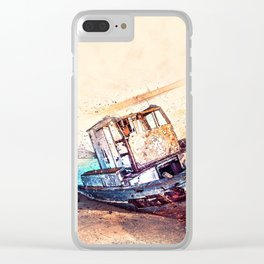 Boat Sea Sky Clear iPhone Case