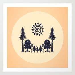 Summer Forest  Art Print