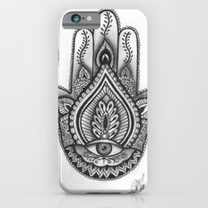 Hamsa hand Illustration (Evil Eye) protection/good luck - By Ashley Rose Standish iPhone 6 Slim Case