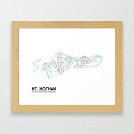 Mt. Hotham, Victoria, Australia - Minimalist Trail Art Framed Art Print