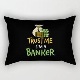 Accounting Bank Teller Cashier Funny Banking Gift Rectangular Pillow