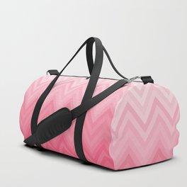 Fading Pink Chevron Duffle Bag
