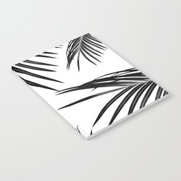 Black Palm Leaves Dream #1 #tropical #decor #art #society6 Notebook