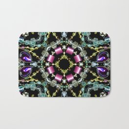 Bling Jewel Kaleidoscope Scanography Bath Mat