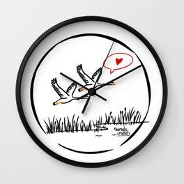 Lake and geese Wall Clock
