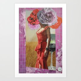 Collage Tarot - 4 of Cups Art Print