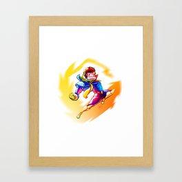 Knee of Justice! Framed Art Print
