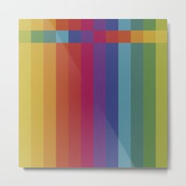 The Color Wheel / Rainbow Stripes Metal Print