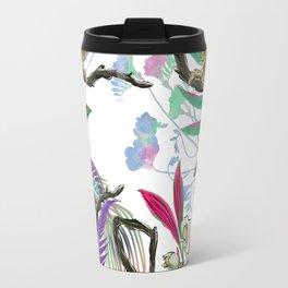 texture of print fabric striped leopard Travel Mug