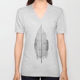 Scanned Leaf_Dry_Pattern Unisex V-Neck