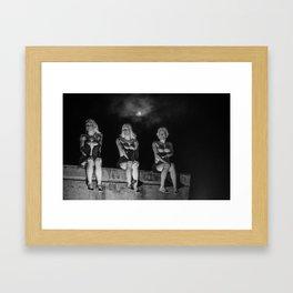 Porcelain Ladies in the Pale Moonlight Framed Art Print