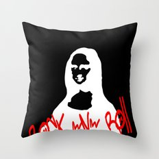 Mona Rock Throw Pillow