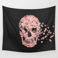death Wall Tapestries featuring A Beautiful Death  by Terry Fan