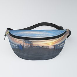 Calm evening on the quay Fanny Pack