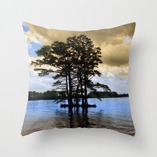 Cypress Trees Throw Pillow