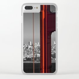 Golden Gate Bridge | Panoramic Downtown View Clear iPhone Case