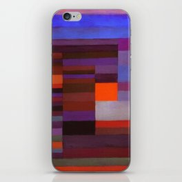Paul Klee Fire In The Evening Colorful Abstract Art iPhone Skin