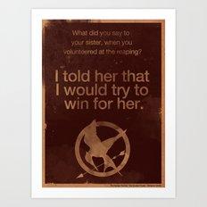 The Hunger Games Art Print