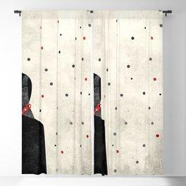 minimal art Blackout Curtain