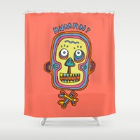 human Shower Curtains featuring Human  by PINT GRAPHICS
