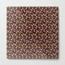 Vintage Autumn - flower pattern Metal Print