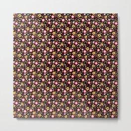 Vintage Autumn - flower pattern Metal Print