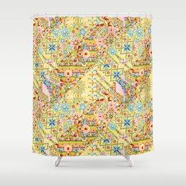 Sunshine Crazy Quilt (printed) Shower Curtain