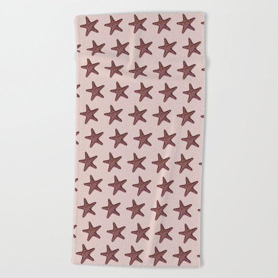 Starfish - Sea Star - Pattern #2 #decor #art #society6 Beach Towel