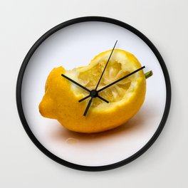 Keep smiling. Half eaten lemon Wall Clock