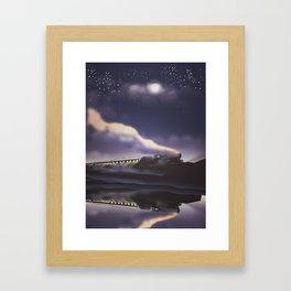 Thundering Steam Engine Framed Art Print