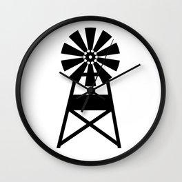 Farmhouse Windmill Wall Clock