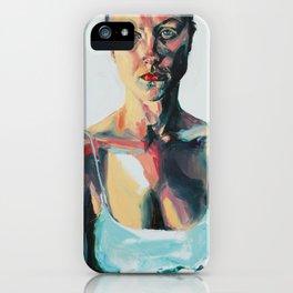 Portrait of Danielle Jacobson iPhone Case