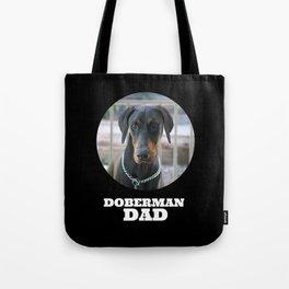Doberman Dad Black Tote Bag