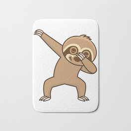 Sloth dab Bath Mat