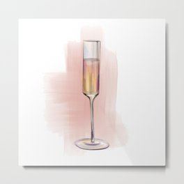 Champagne Glass no 4 Metal Print