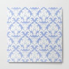 wedgewood blue damask Metal Print