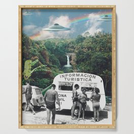 The Visitors // UFOs in Paradise Serving Tray