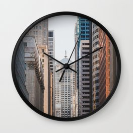 LaSalle Street Canyon Wall Clock