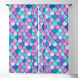 Sparkle Scales Blackout Curtain